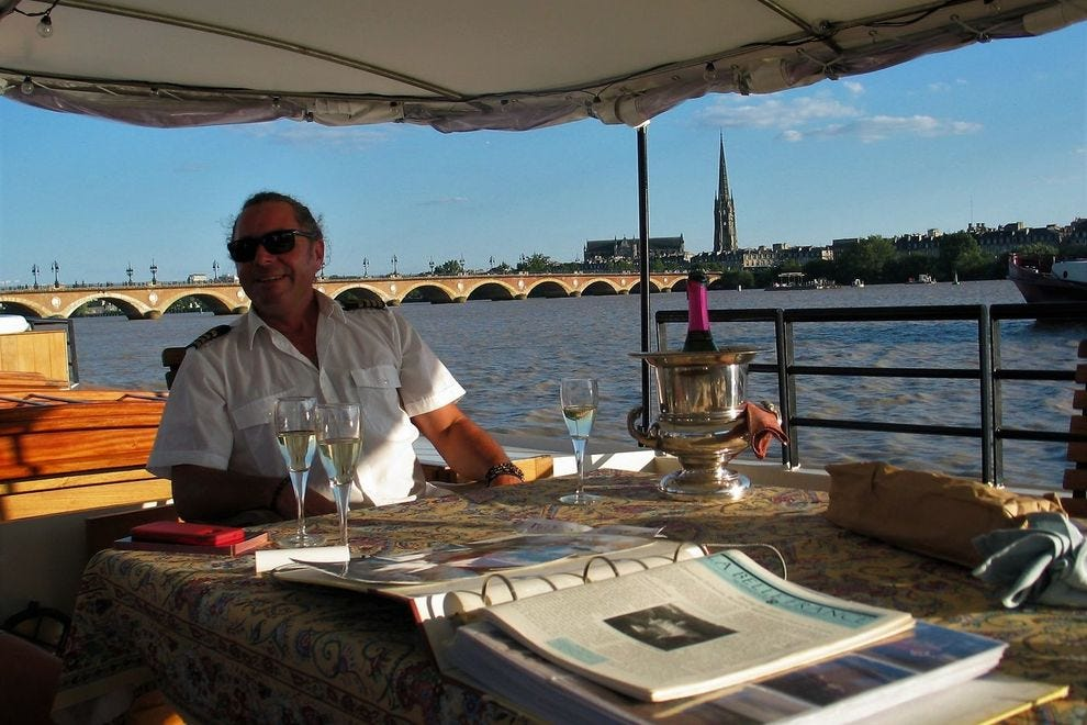 Captain Daniel Sak, luxury barge <em>Tango</em>, Bordeaux