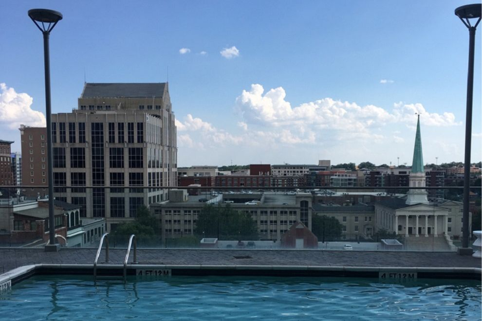 Pool with a view at Aloft