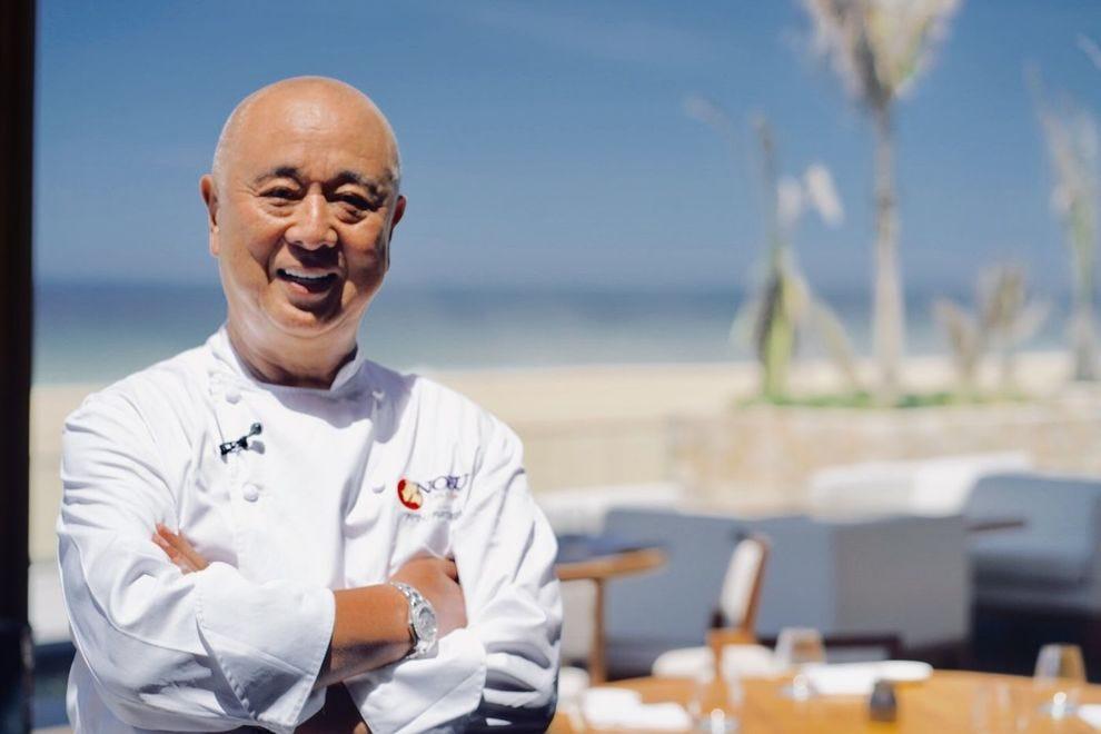 Chef Nobu Matsuhisa visits his new Nobu Hotel Los Cabos in Baja Sur, Mexico