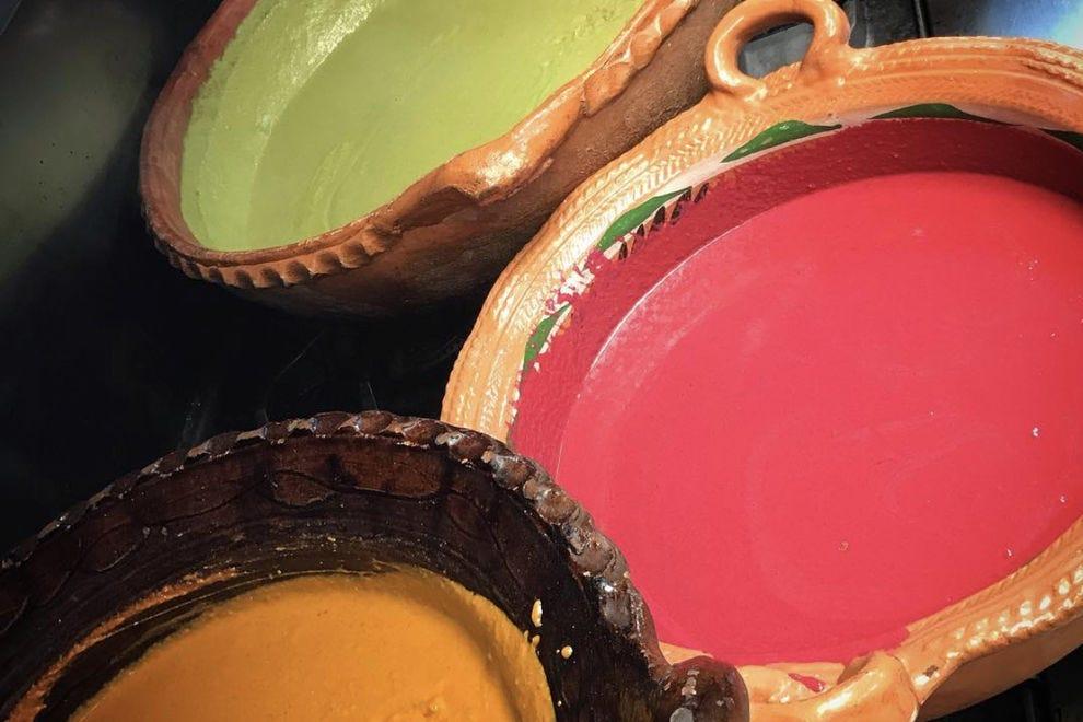 Sazón prepares several varieties of mole each day