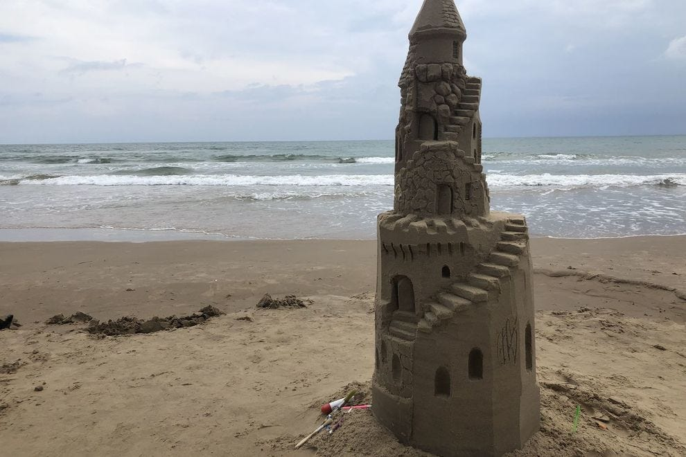 Sand castle building with Sand Castle Lessons