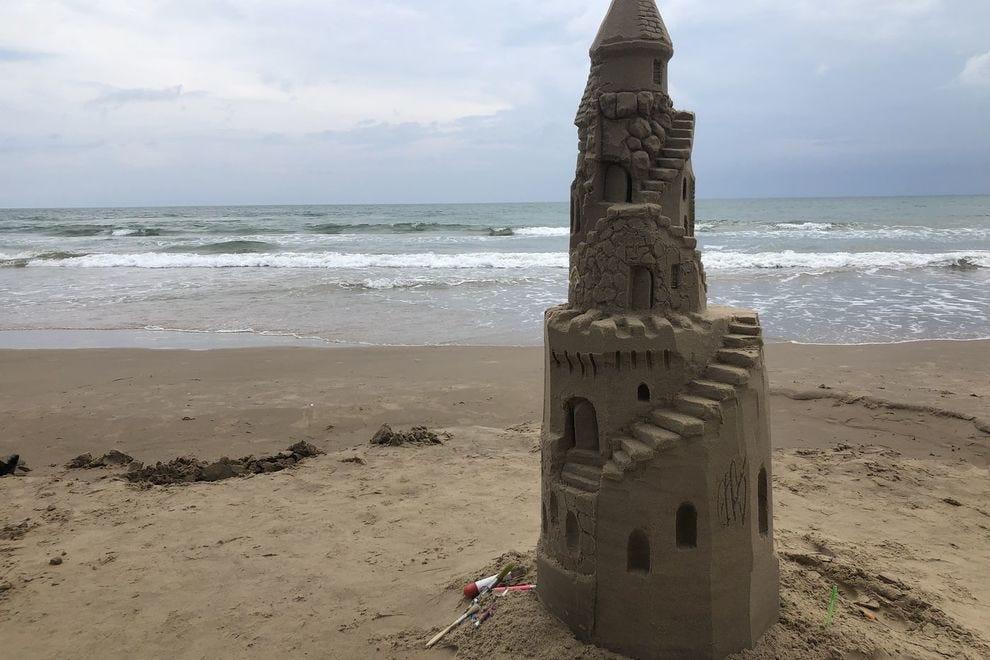 Sand castle building with Sand Castle Lessons