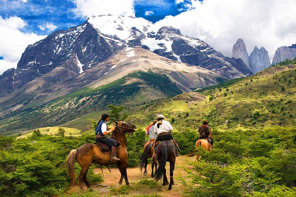 Horseback riding during a Wild Women Expeditions trip to Patagonia
