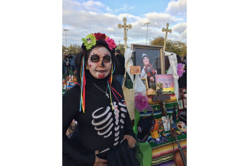 At a Day of the Dead celebration in Chicago
