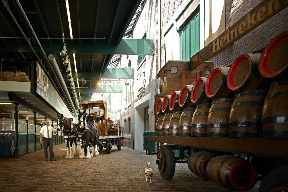 The Experience includes a tour of the stables where Heineken's signature English Shire horses are kept