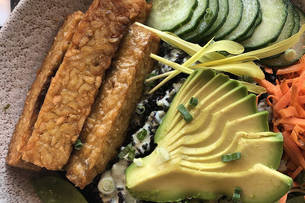 Wilma's serves healthy, often vegetarian-friendly, dishes