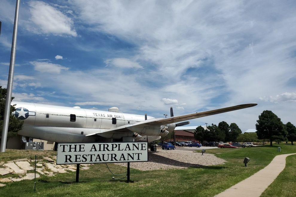 The Airplane Restaurant is located in a real plane