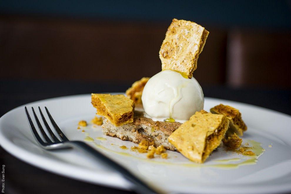 The hazelnut torte is a heavenly blend of flavors