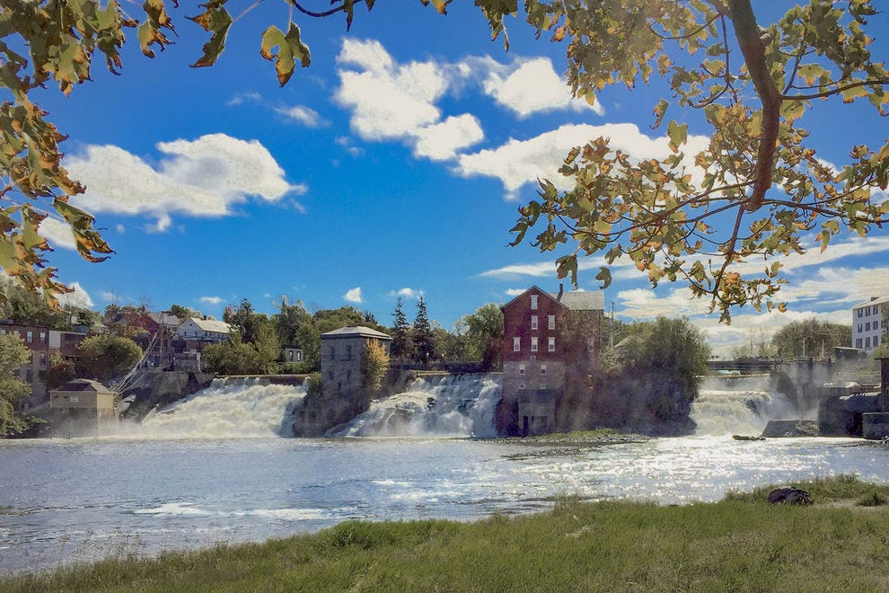 Relax or picnic at Vergennes Falls Park, right on the banks of Otter Creek