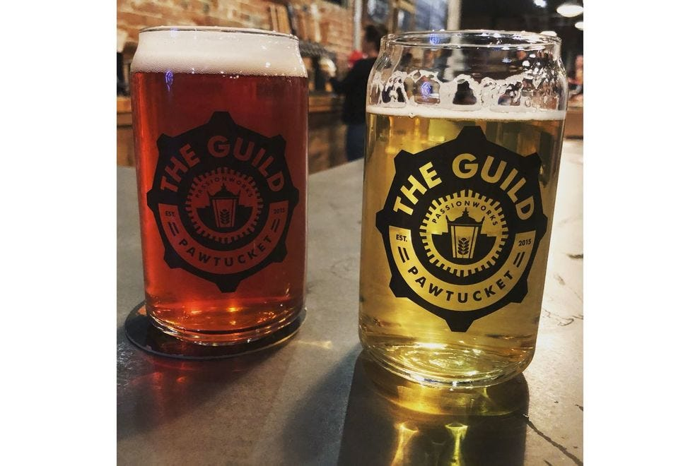 Paired pints at The Guild