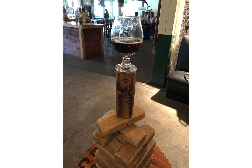 Giant Jenga at Whalers Brewing Company