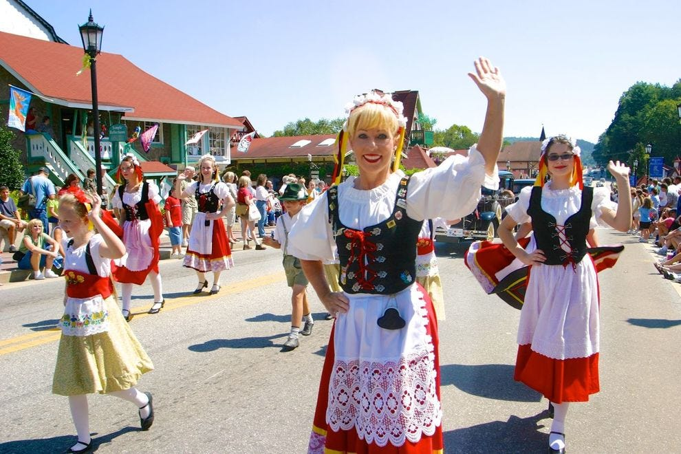 The Oktoberfest in Helen, Georgia is celebration is considered to be the longest running celebration of its kind in the United States.