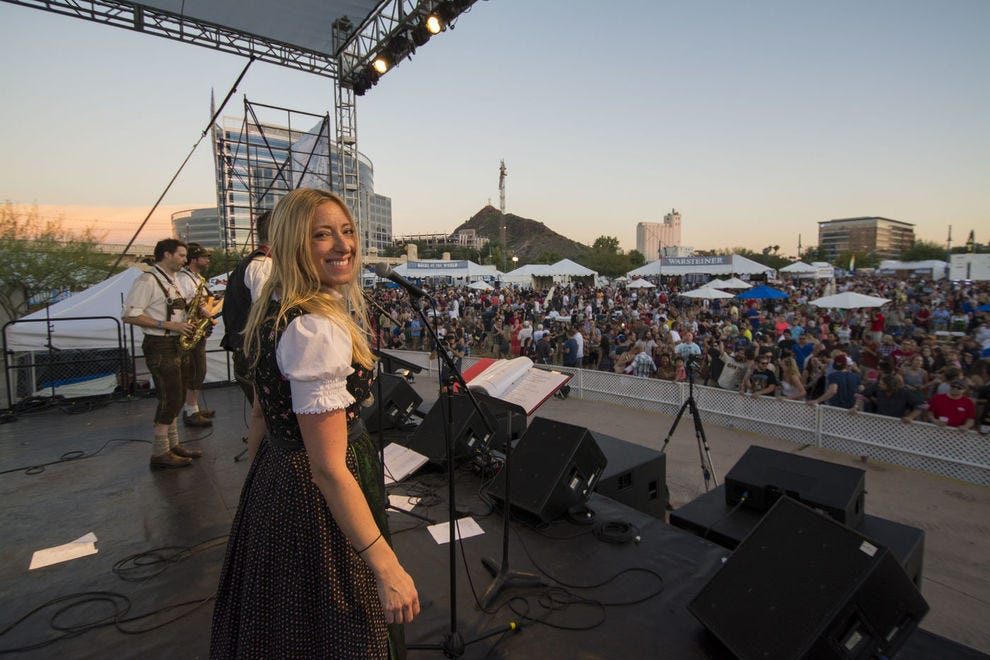 The Four Peaks Oktoberfest is a celebration that goes toward a charitable cause!