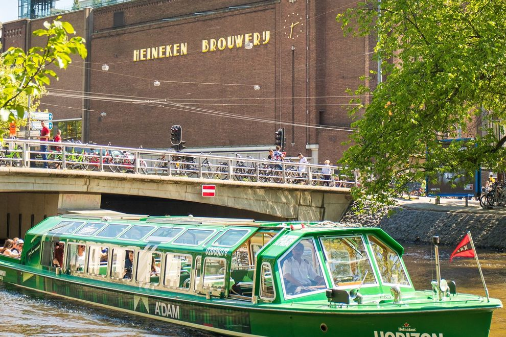 One tour option combines the Heineken Experience at the old brewery with a canal cruise of Amsterdam on a custom boat