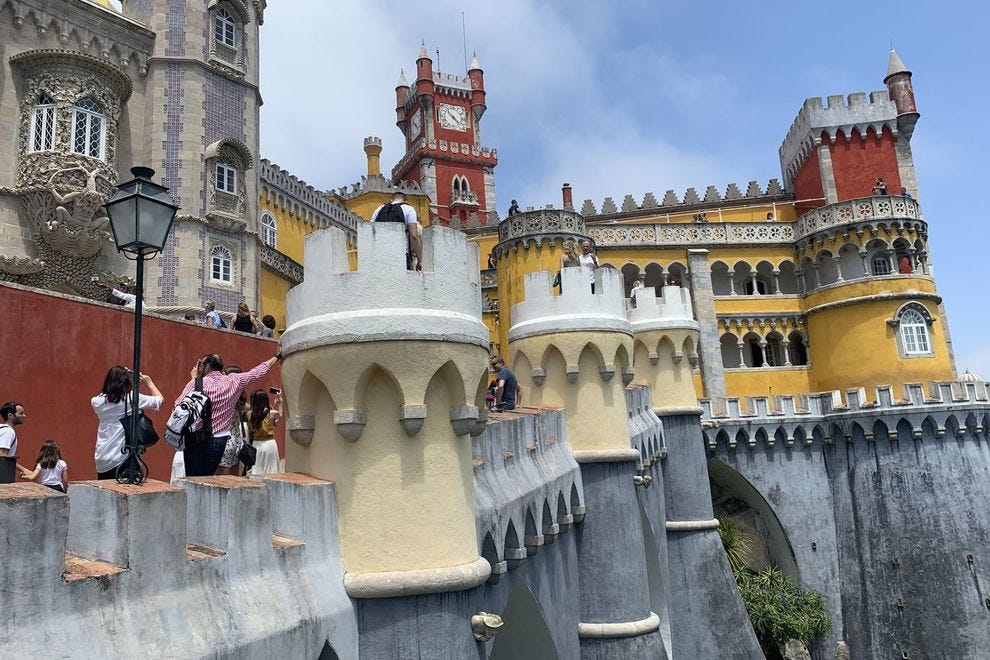 Pena Palace in Sintra is said to be one of the best examples of 19th century romanticism in the world