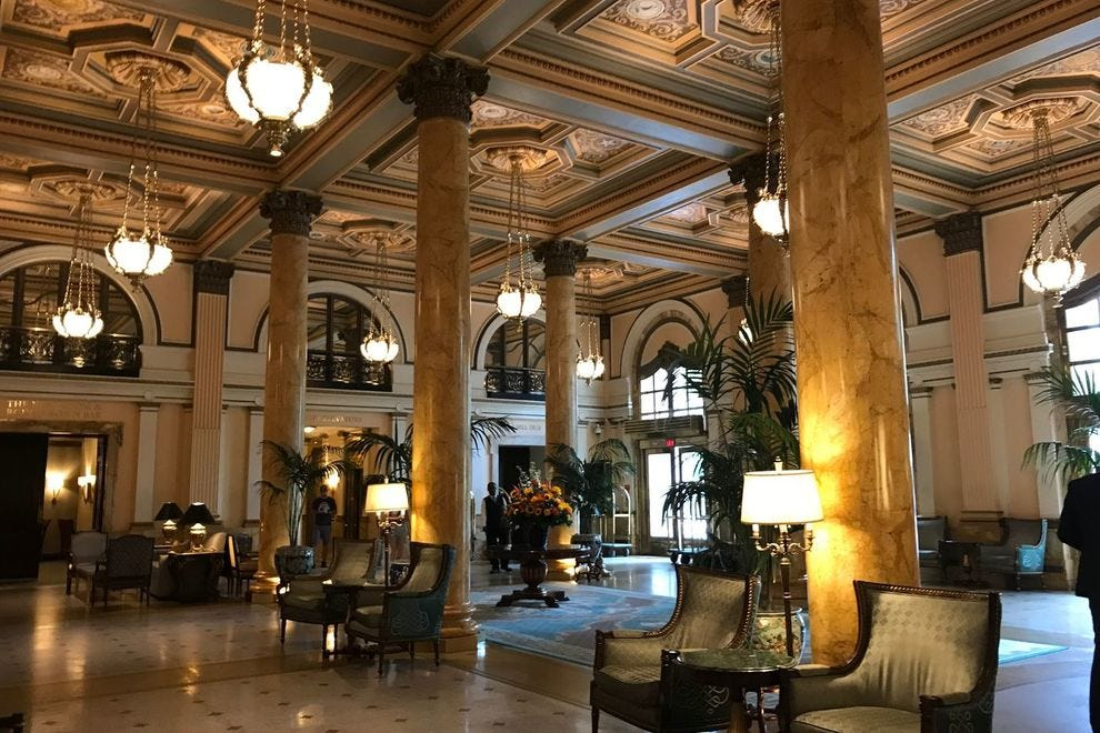 The lobby of the Intercontinental Willard Hotel