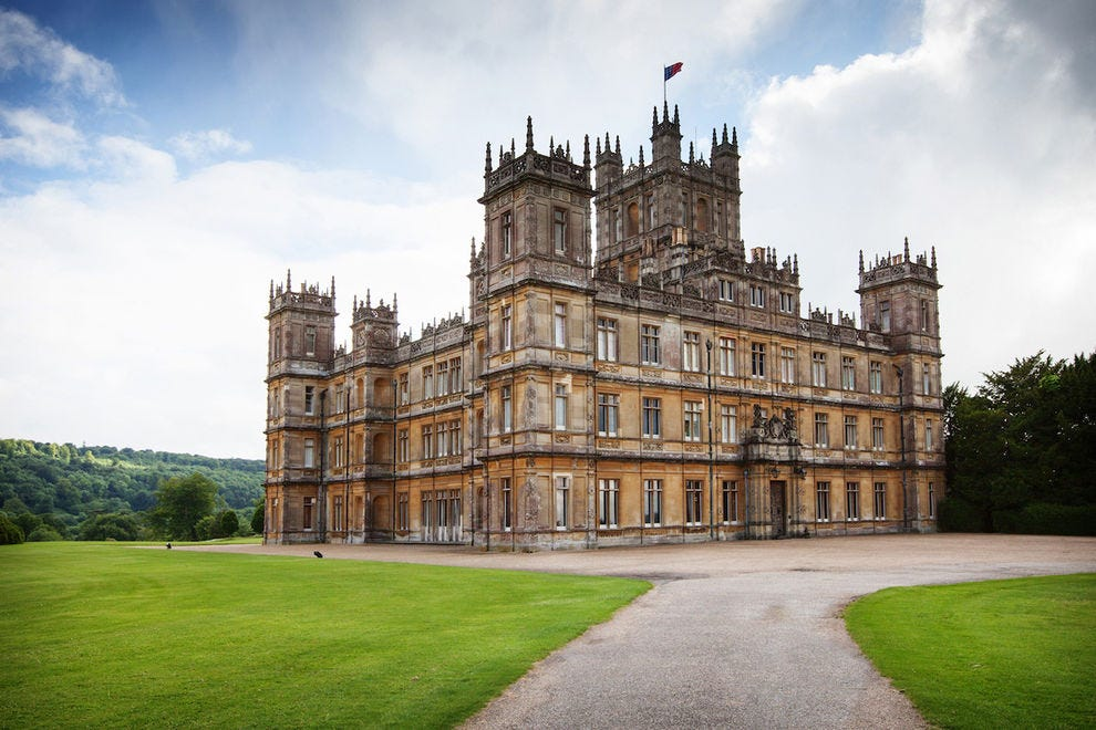 "The iconic Highclere Castle, where much of ""Downton Abbey"" was filmed"