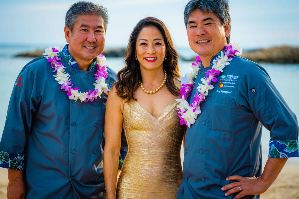 Festival leaders: Chefs Alan Wong, Roy Yamaguchi and Denise Yamaguchi