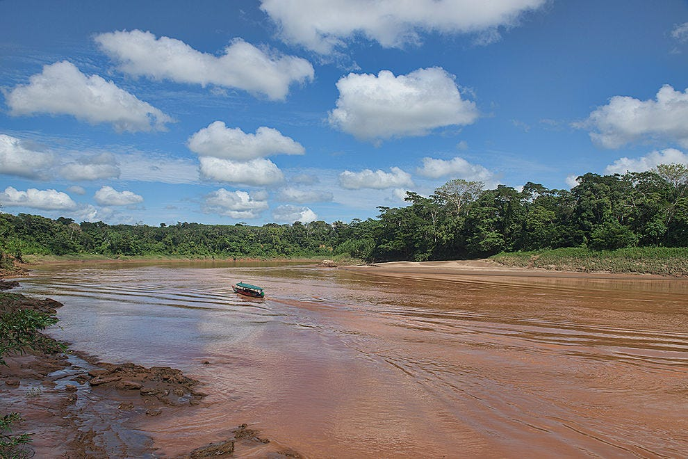 Into the great unknown: riding up the Tambopata River