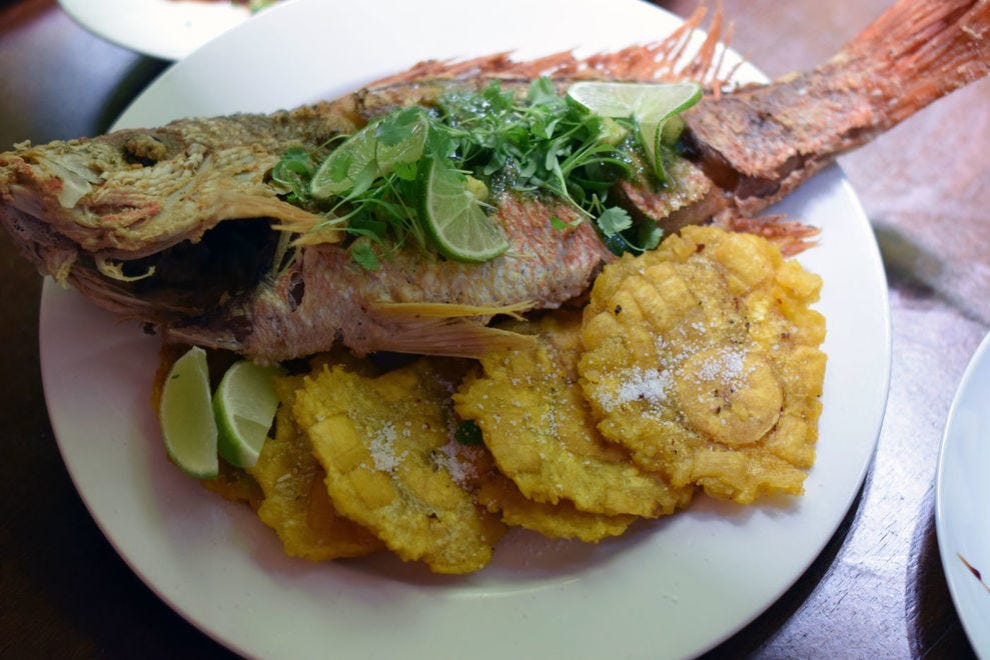 Chillo frito can be enjoyed at any seafood restaurant