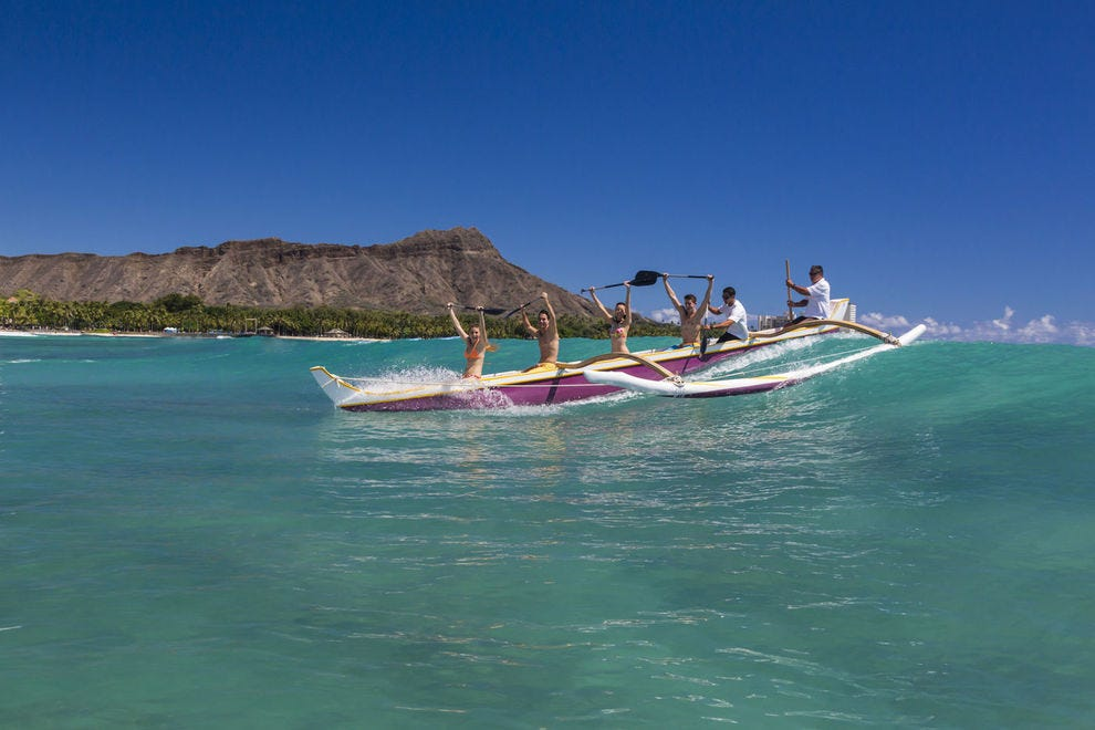 Go on an outrigger like the bunch!