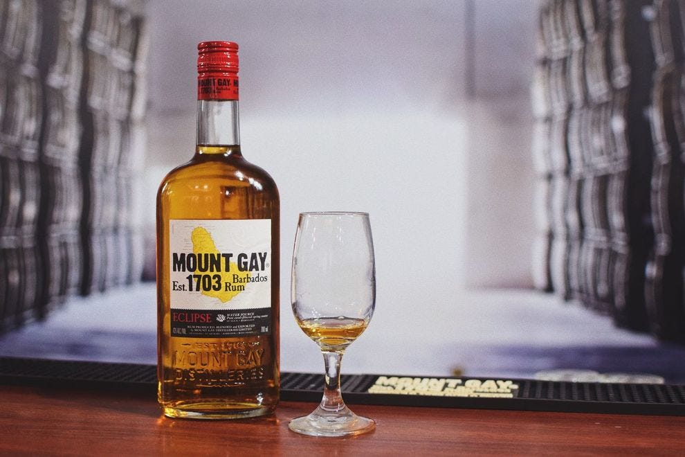 Mount Gay 1703 is named for the year that Mount Gay Distillery opened  in Barbados