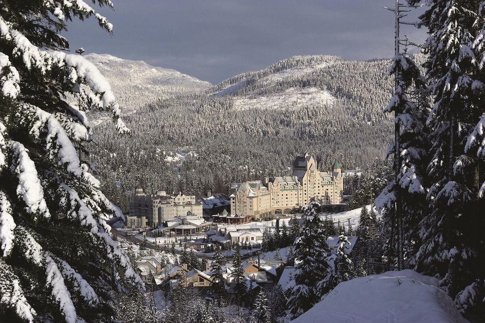 Get pampered at Fairmont Chateau Whistler, the region's landmark ski-in ski-out hotel