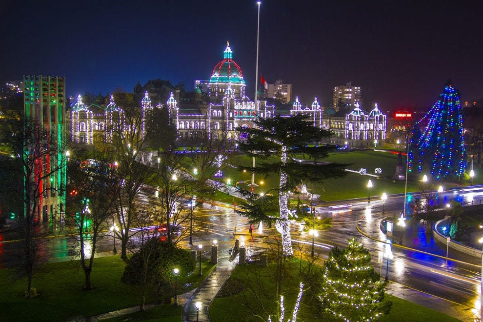 The B.C. Parliament Buildings in Victoria truly shine at this time of year