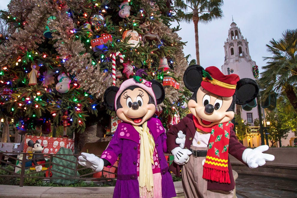 Which theme park throws the best holiday party?