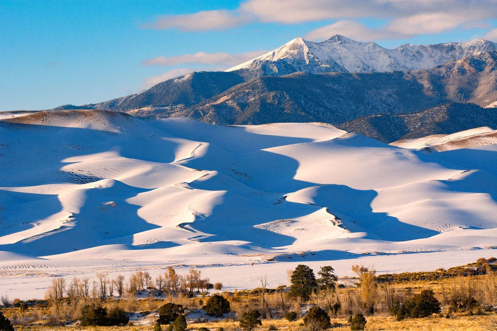 October snow over Great Sand Dunes National Park
