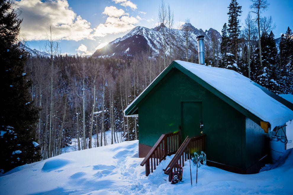 Backcountry hut in the San Juan Mountains