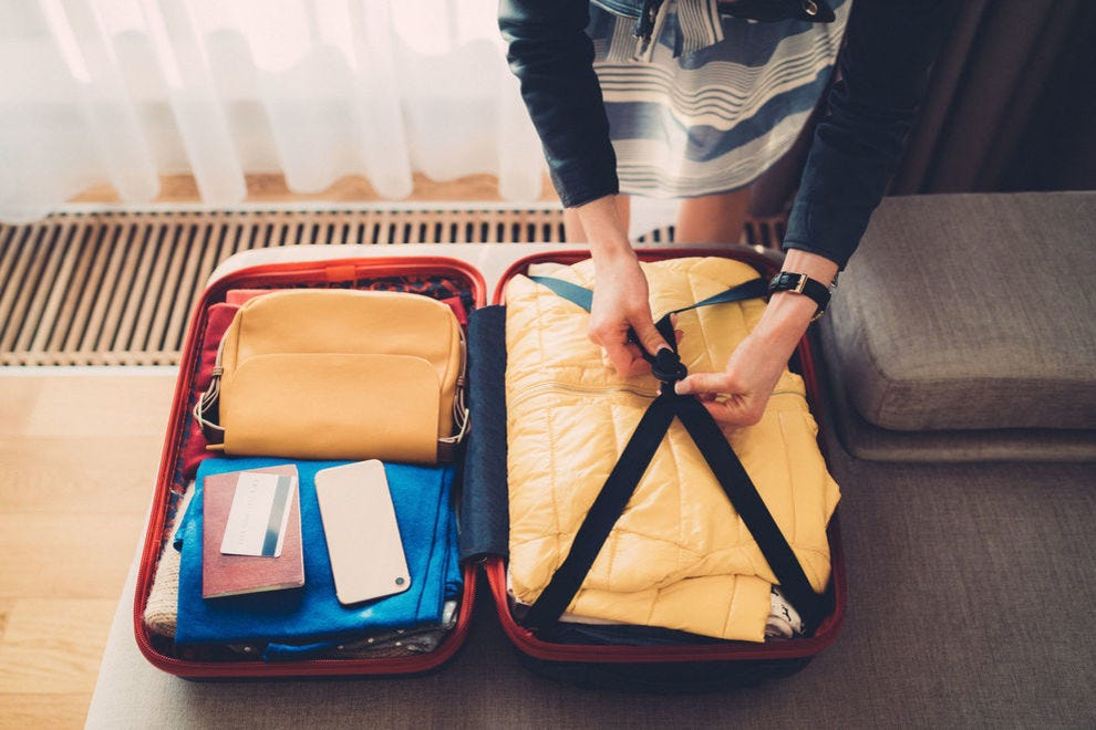 Try to fit everything you need in your carry-on