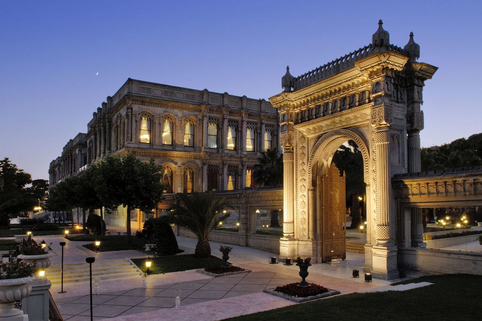 This gorgeous palace is located on the Bosphorus in Istanbul