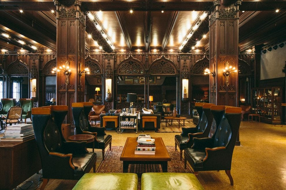 All you need is a reservation to get into this former club-turned-hotel