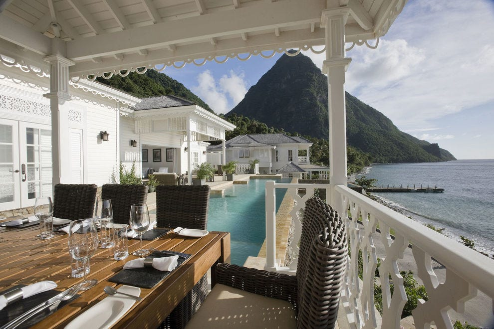 Learn about St. Lucia while enjoying gorgeous views
