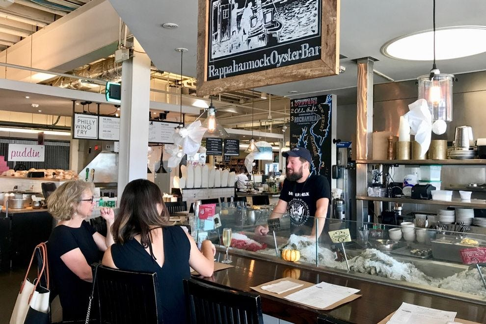 Rappahannock Oyster Bar is tucked inside DC's Union Market.