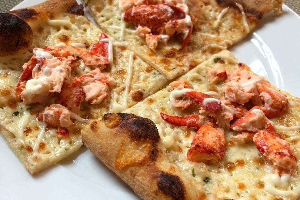 You can even get a lobster pizza at Cornerstone Artisanal Pizza & Craft Beer