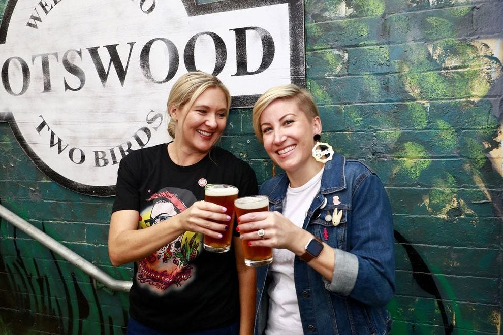 Danielle Allen and Jayne Lewis of Two Birds Brewing