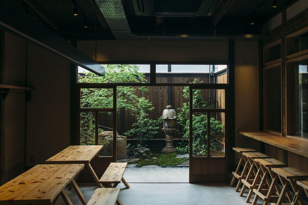 Yamorido exudes Japanese zen and hospitality with an indoor-outdoor seating plan that makes you feel like you're in a local home.