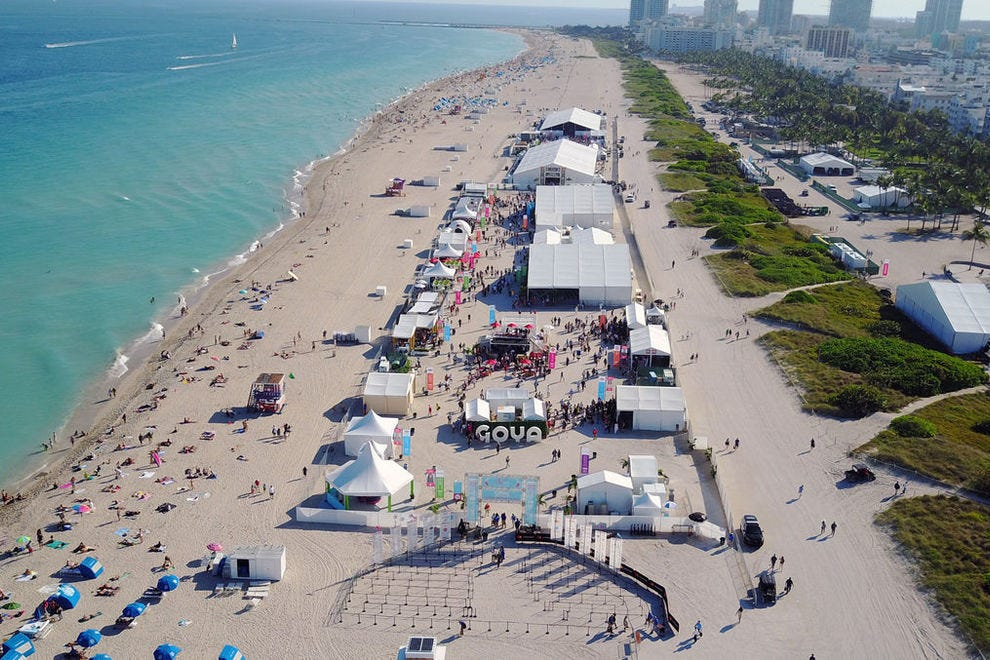 The Goya Foods' Grand Tasting Village is four football fields long and is the highlight of SOBEWFF