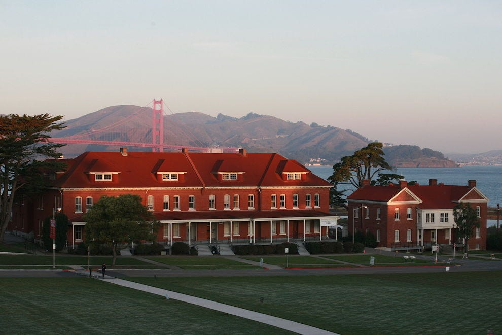 Lodge at the Presidio features breathtaking views of the Golden Gate Bridge