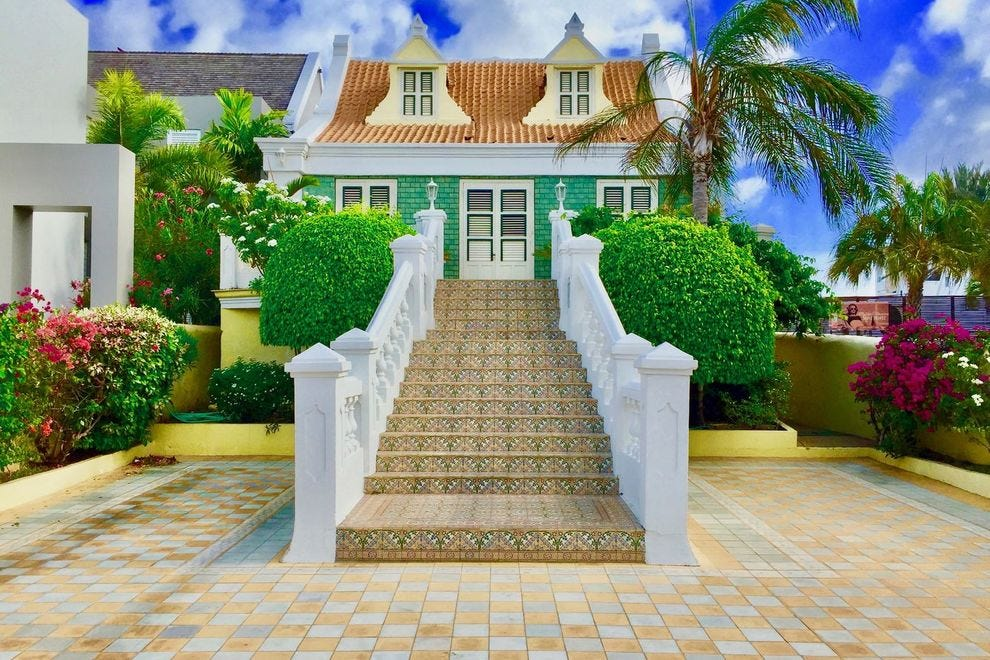 Curacao is known for its colorful buildings