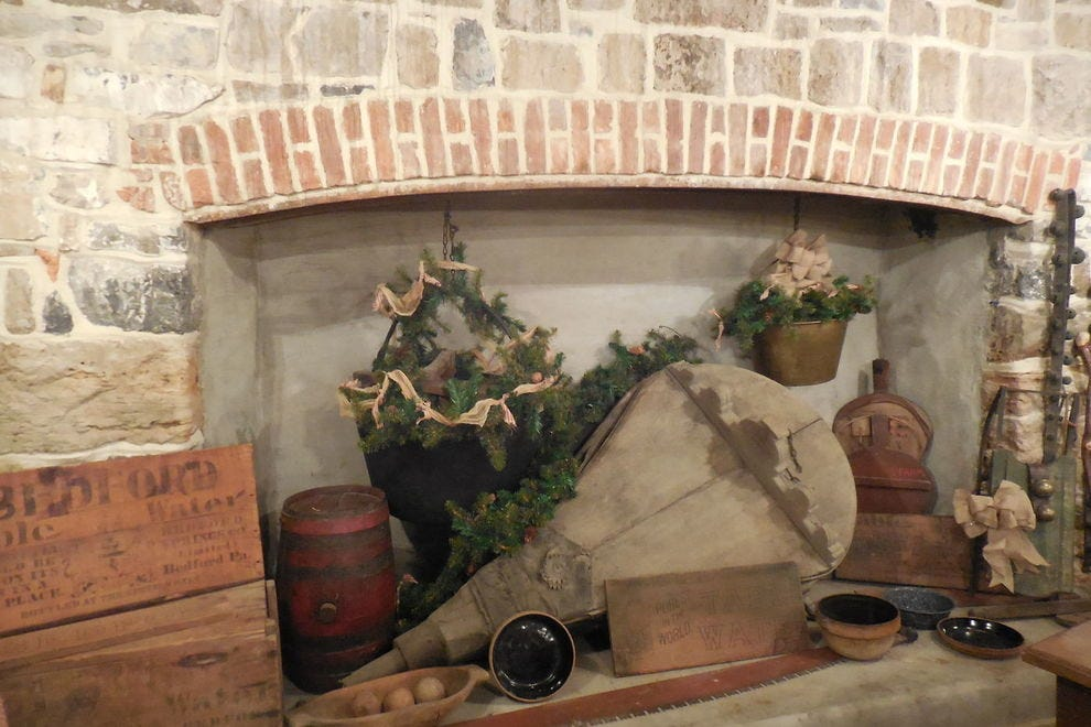The hearth at the Omni Bedford Springs Resort was originally used for cooking meals for the guests