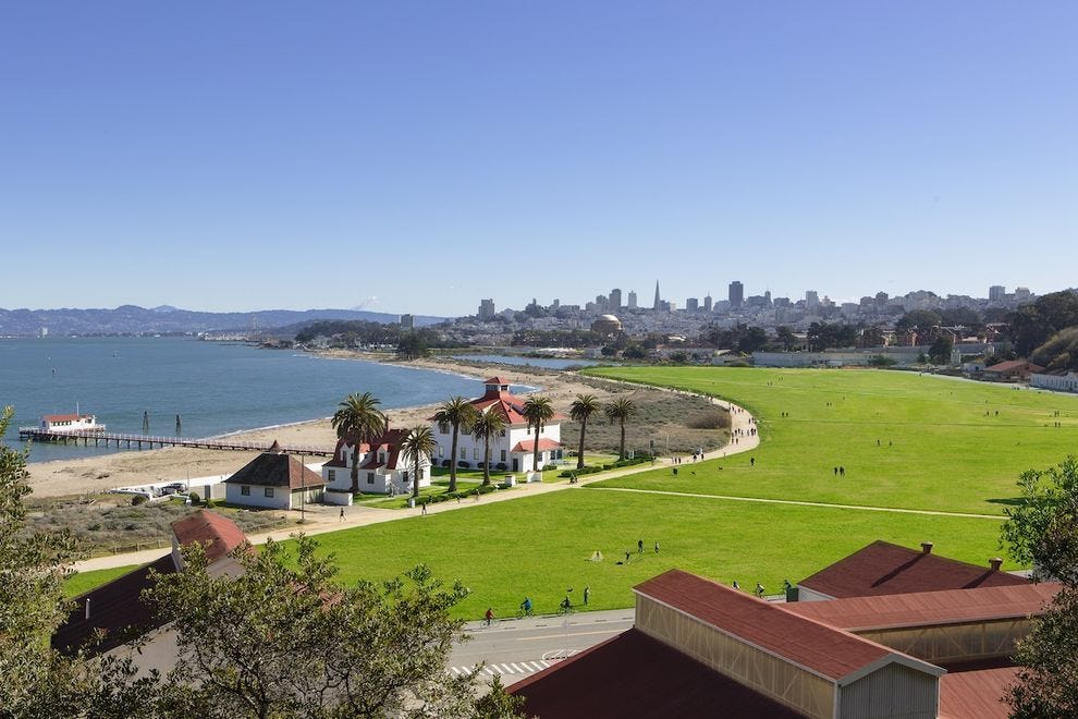 Crissy Field and Beach is where San Franciscans play