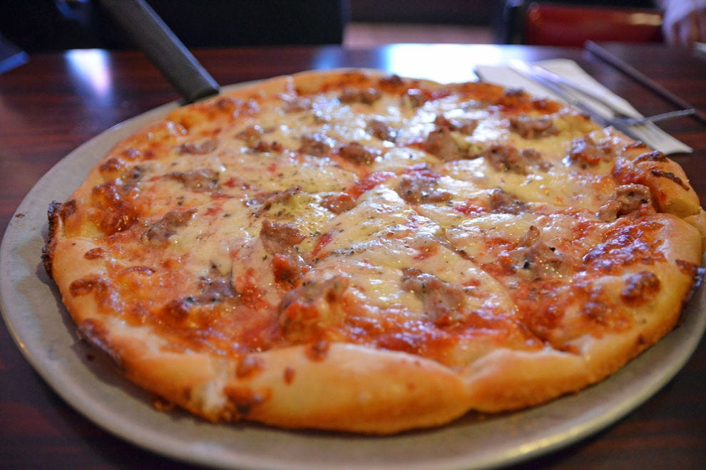 Sausage pizza at Tony's Baltimore Grill