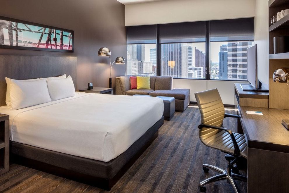 Hyatt House's contemporary style makes each space easy to personalize