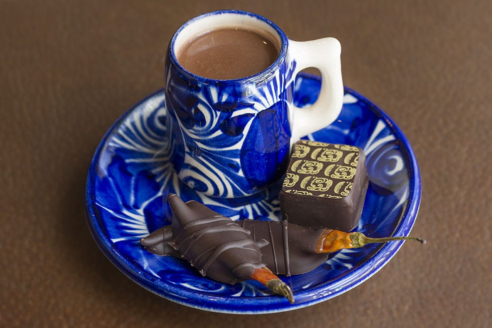 Kakawa Chocolate House in Santa Fe makes traditional chocolate elixirs, as well as such treats as chocolate-dipped chile de árbol