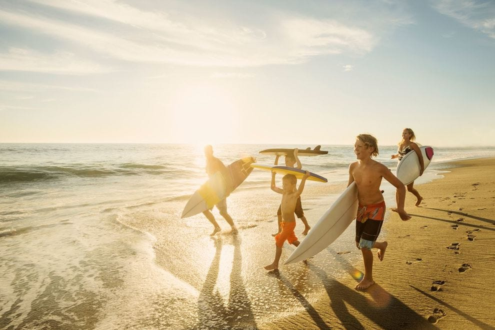 Learn to surf at the Hotel del Coronado