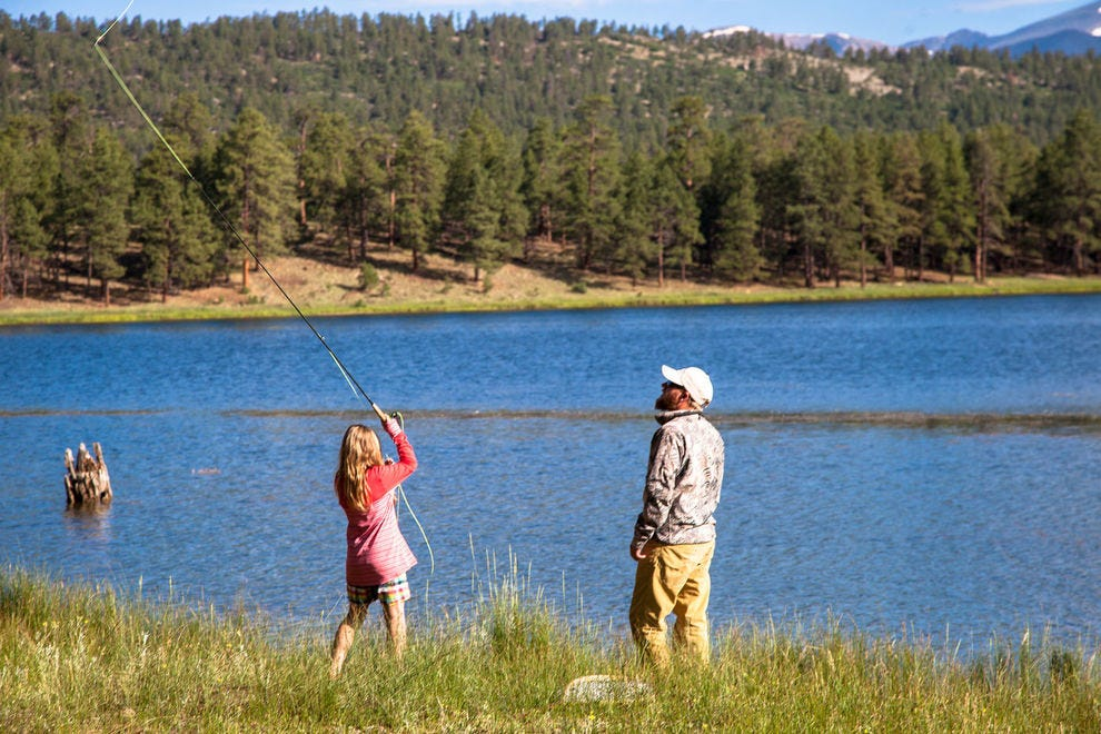Fly fishing at Vermejo, a Ted Turner Reserve