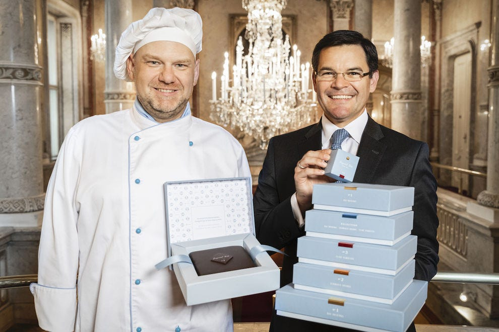 Hotel Imperial General Manager Mario Habicher and Executive Pastry Chef Christian Csencsits